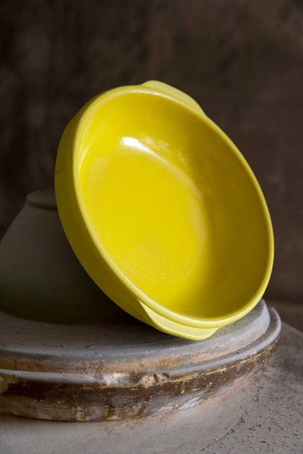 Round baking dish jaune for Cooking & stewing, Manufacture Digoin