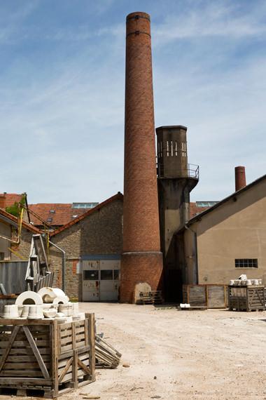 """""""La cheminée  XIX<sup>ème</sup><br>de la Manufacture """", Manufacture Digoin"""
