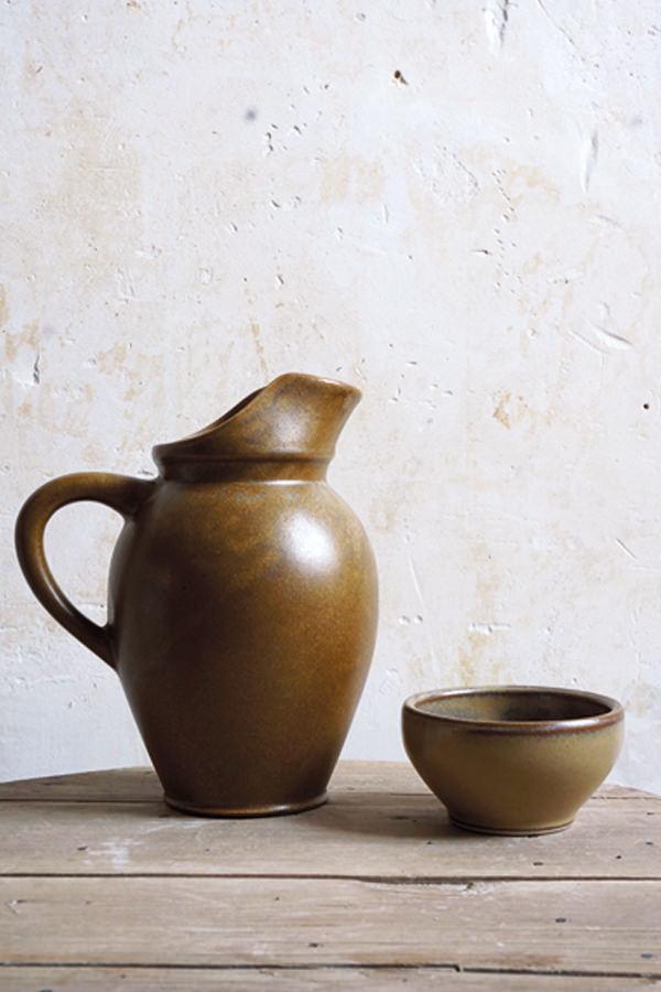 Pinte à cidre muscade pour contenir, Manufacture Digoin