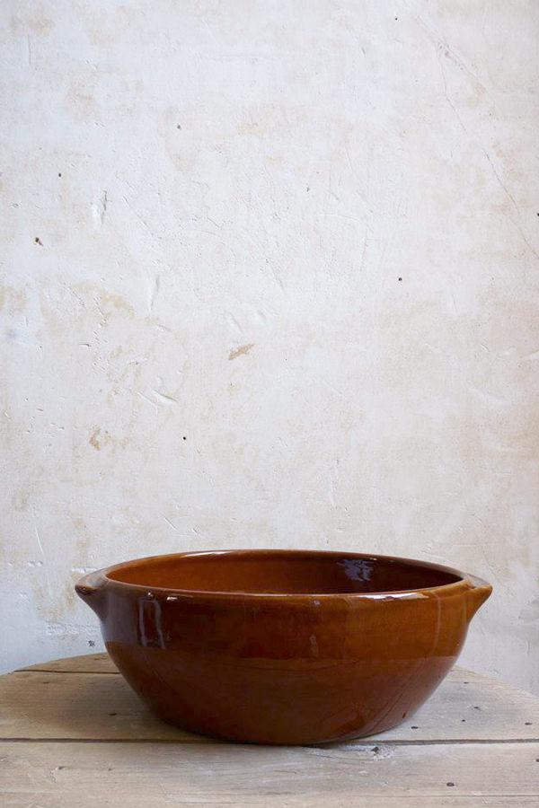Plat creux brun tradition pour cuire et mijoter, Manufacture Digoin
