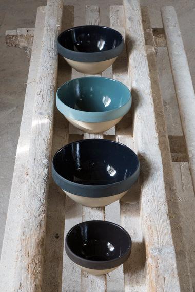 Terrines de Paris bleues x 4 pour préparer, Manufacture Digoin